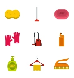 Sanitary day icons set flat style vector