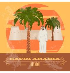 Saudi Arabia Retro styled image vector image