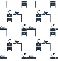 seamless workplace pattern education symbol from vector image
