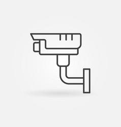 security surveillance camera simple icon vector image