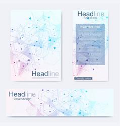 Set flyer brochure size a4 templatebanner vector