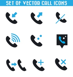 Set of call icons vector