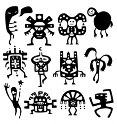 Shamans and spirits design elements vector