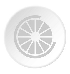 Sign incomplete download icon circle vector
