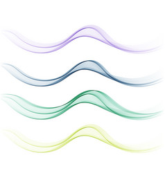 smoothclearbeautiful waves set wave abstract vector image