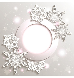 Sparkling Christmas Snowflake Background vector image