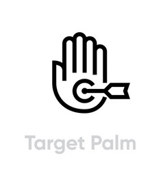 target palm icon editable line vector image