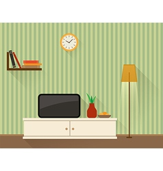 The living room with TV vector image