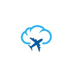 travel weather and season logo icon design vector image