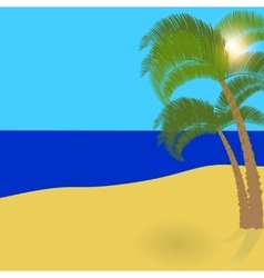 Two lonely palm trees on an exotic island a vector image