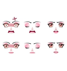 Unhappy Female Face vector image
