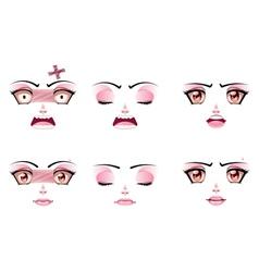Unhappy Female Face vector