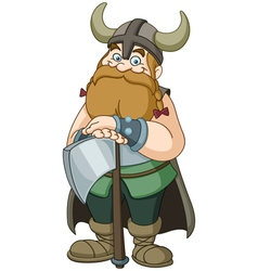 viking warrior vector image