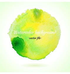 Watercolor Background Light Green and Yellow vector image