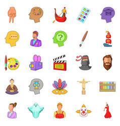 actors icons set cartoon style vector image vector image