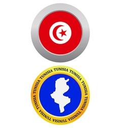 button as a symbol map TUNISIA vector image