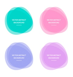 Colorful abstract circle round frames vector image