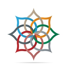 Colorful floral element for design vector image