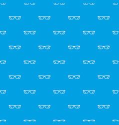 eye glasses pattern seamless blue vector image