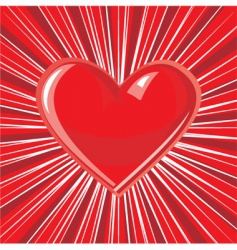 heart background vector image