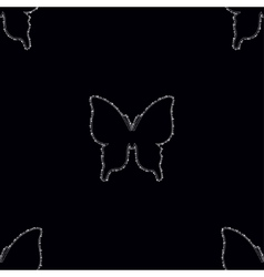 Seamless pattern with Diamonds butterfly vector image