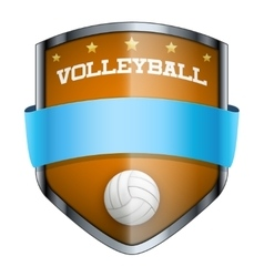 Volleyball Shield badge vector image vector image