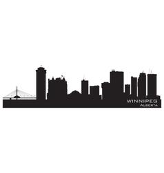 Winnipeg Canada skyline Detailed silhouette vector image vector image