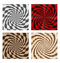 Abstract Spiral Background Set vector image vector image