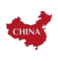 High detailed red China map vector image