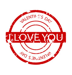 i love you rubber stamp vector image