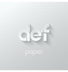Letter d e f logo alphabet icon paper set vector
