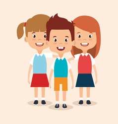 little students avatars characters vector image vector image