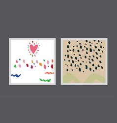 set creative postcards vector image