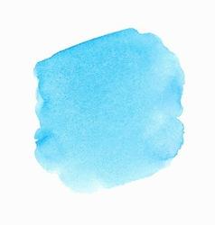 Bright blue watercolor spot vector image vector image