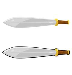 Cartoon sword eps10 vector image vector image