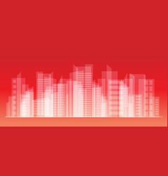 city landscape eps10 vector image