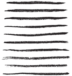 grungy brush strokes vector image