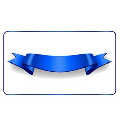 ribbon banner satin blank collection vector image vector image