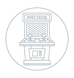 simple line drawn vintage game arcade cabinet icon vector image