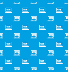 button sale on laptop pattern seamless blue vector image vector image