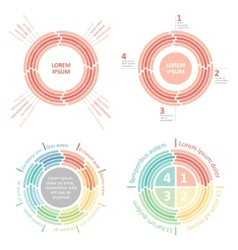 circle infographics diagram vector image vector image
