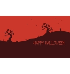 Happy Halloween red backgrounds vector image vector image