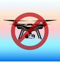 No fly zone airdrone quadrocopter copter vector