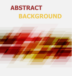 Abstract red and yellow geometric overlapping vector