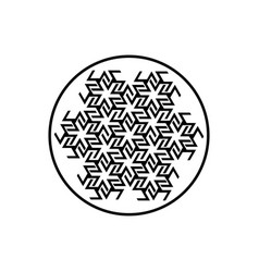 Antahkarana mandala ancient symbol meditation vector