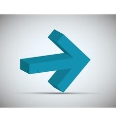 Arrows icons design vector image