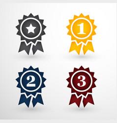 Award badges set vector