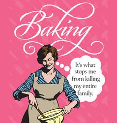 baking vintage style badge or emblem vector image