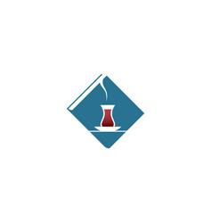 blue cafe logo vector image