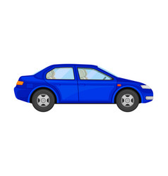 Blue motor-car as auto for retail sales vector